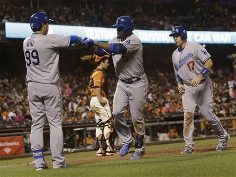 Uribe's 7 RBIs Land Dodgers in 2nd