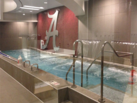 Alabama Players Enjoying Incredible new Locker Room
