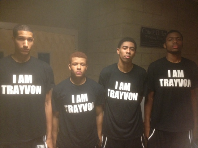 "High Schoolers Sport ""I AM TRAYVON"" Shirts at AAU Tourney"