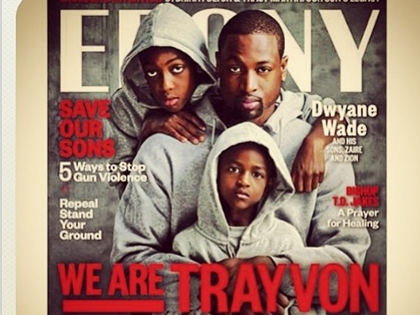 Dwyane Wade Poses with Sons in Hoodies for 'We Are Trayvon' Ebony Mag Cover