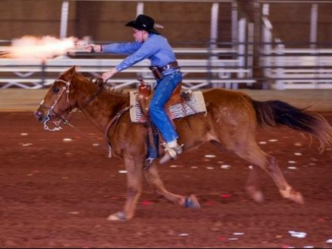 Exclusive–13-year-old Cowboy Mounted Shooting Prodigy Sam Andress Speaks to Breitbart Sports