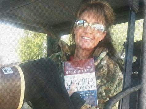 Palin Reads  Liberty Amendments  Before Hunting Trip: Book Will Help Restore Republic