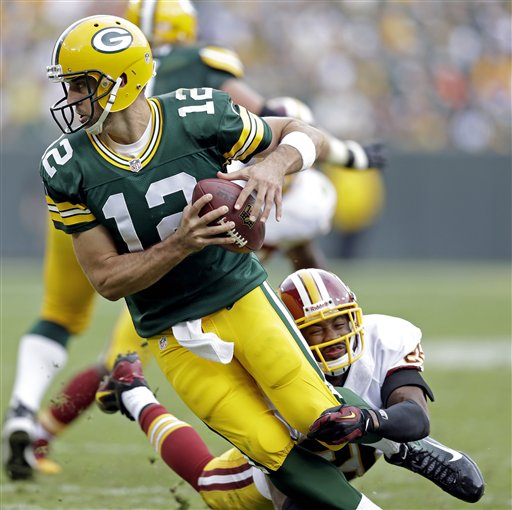 Rodgers First to Throw for 480 Yards, 4 TDs, 0 INTs Since 1962 in Green Bay Win