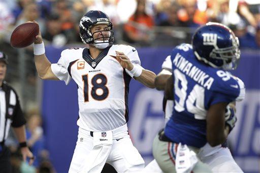 Peyton's Broncos Beat Eli's Giants in Manning Bowl