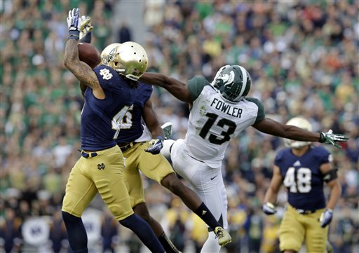 No. 22 Notre Dame Outlasts Michigan St. 17-13