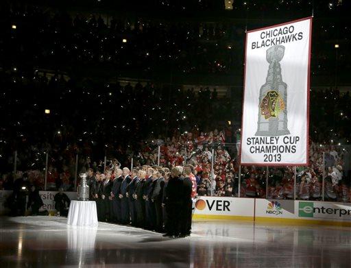 Blackhawks Raise Stanley Cup Banner, Win Opener