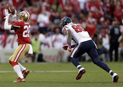49ers Pound Schaub, Texans in Lopsided Win