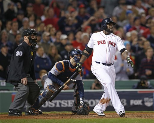 Ortiz, Red Sox Dramatically Tie ALCS at 1
