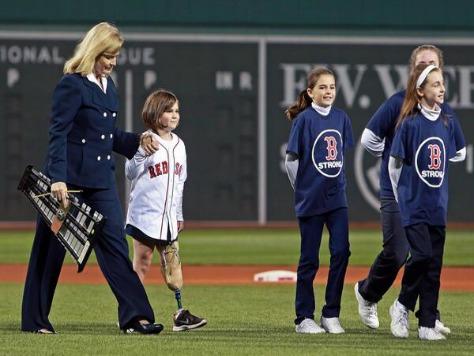 Boston Marathon Survivor Sings National Anthem at Fenway Park