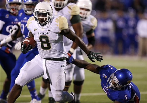 Petty, No. 6 Baylor Keep Rolling, Rout Kansas