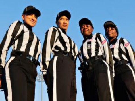 Four Females Officiate D-II Thursday Night Game