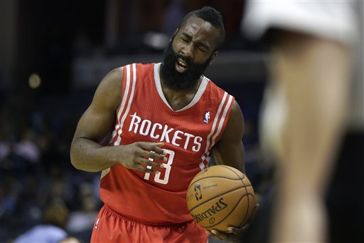 Harden Hurt in Rockets Rout of Memphis