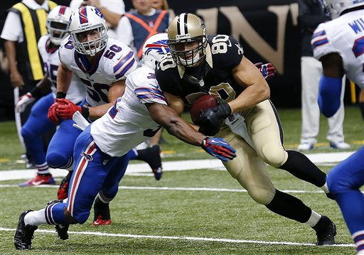 Brees Leads Saints Past Bills, 35-17