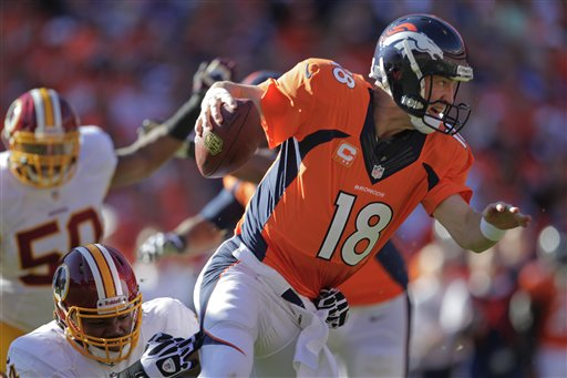 Manning Leads Broncos to 45-21 Win over Redskins