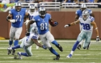 Calvin Johnson's 329 Receiving Yards 7 Shy of Record in Lions Comeback Win over Dallas