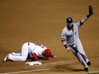 Day After Losing on Obstruction Call, Red Sox Even World Series at 2 on Walk-off Pickoff