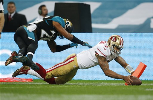 Kaepernick Leads 49ers over Jags 42-10 in London