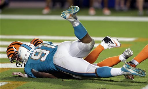 Dolphins Beat Bengals 22-20 on OT Safety