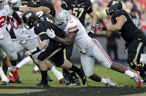 No. 4 Ohio St. Thrashes Boilermakers 56-0