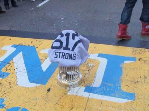 Boston Strong: Red Sox Put World Series Trophy at Marathon Finish Line