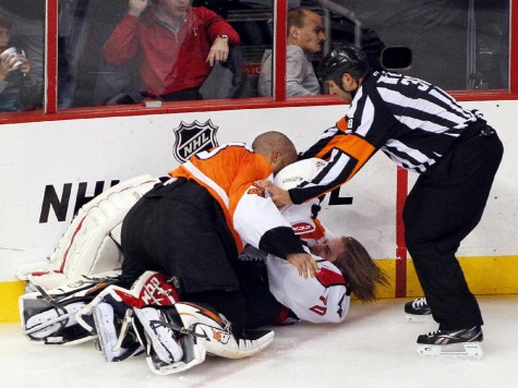 Tempers Flare in Caps/Flyers Game