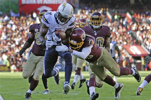 Late Stand Helps Redskins Top Chargers 30-24 in OT