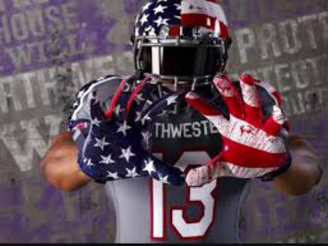 Northwestern Apologizes for Blood-Stained American Flag Design on Wounded Warrior Uniforms
