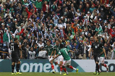 Mexico Thrashes New Zealand 5-1 in World Cup Playoff