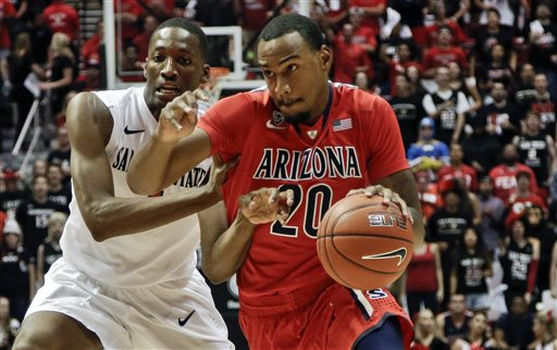 No. 6 Arizona Beats San Diego State 69-60