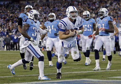 Colts Rally from 14-down, Beat Titans 30-27