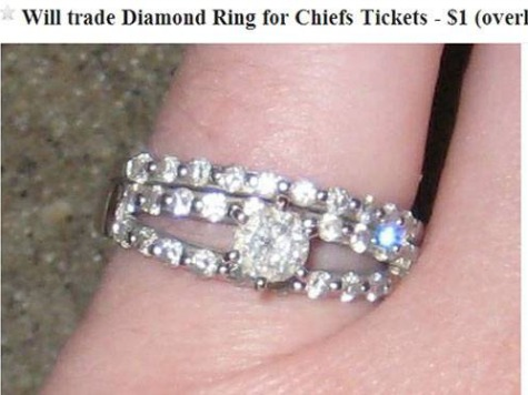 Lady Exchanges Wedding Ring for Kansas City Chiefs Tickets