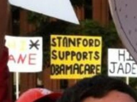 Support for Obamacare Seen as Insult: USC Fan Uses 'Stanford Supports Obamacare' Sign to Mock Football Team