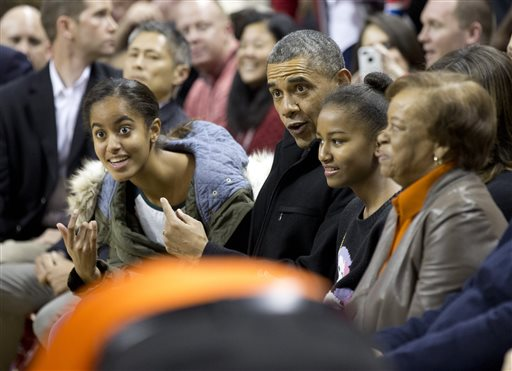 Obama Watches Brother-in-Law, Oregon State Stun Maryland 90-83