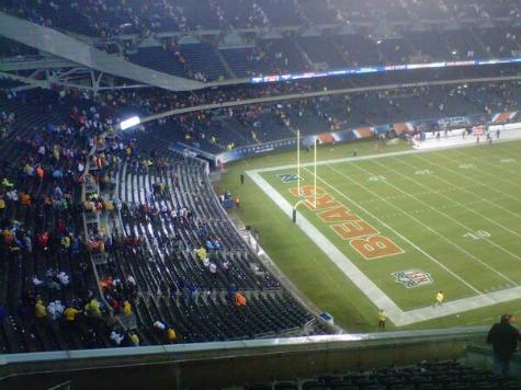 Chicago Bears Game Temporarily Suspended, Fans Seek Shelter After Severe Tornado Warning