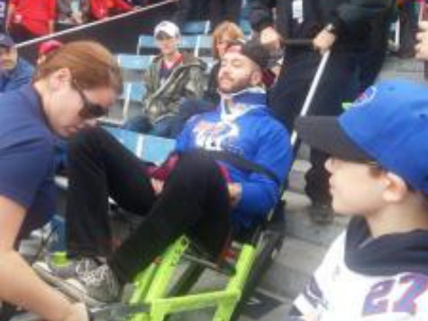 Fan Falls Falls from 3rd Deck at Bills Game–Survives After Landing on Another Man