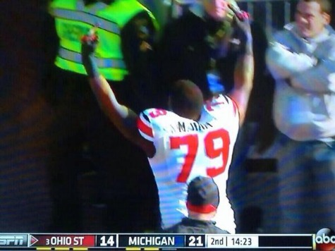 Ohio State Player Flips Double Bird After Getting Ejected