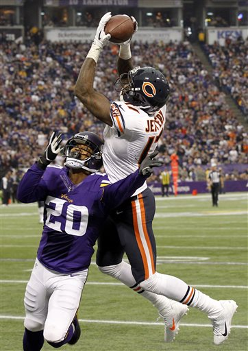 Bears WR Jeffery Sets Team Record in Wild OT Loss to Vikings