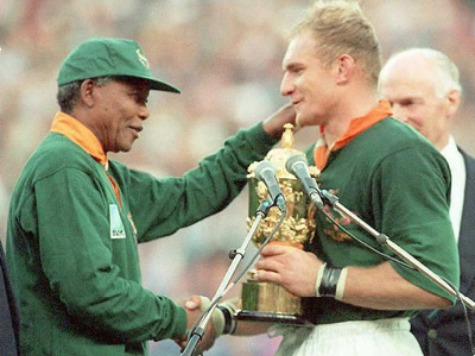 Mandela Reconciled Nation by Donning Springbok Rugby Jersey
