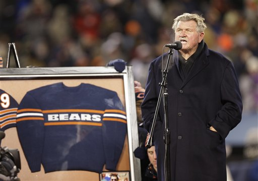 Chicago Bears Retire Mike Ditka's Number
