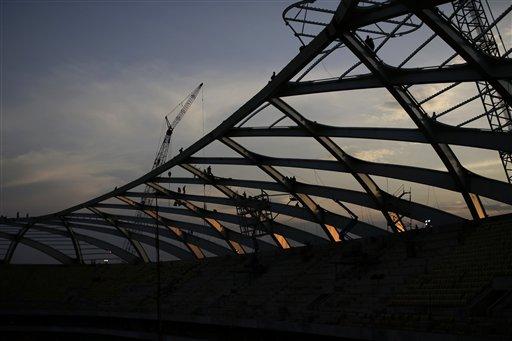 Workers at Brazil World Cup Stadium Walk Off job