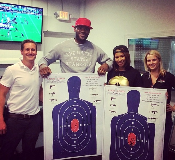 LeBron James, Wife Shot Fully Automatic Rifles to Ring in New Year