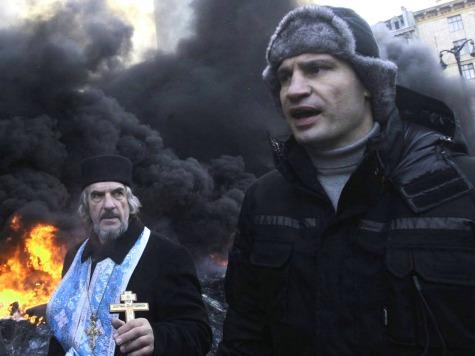 Klitschko at Ukraine Leader's Residence for Meeting