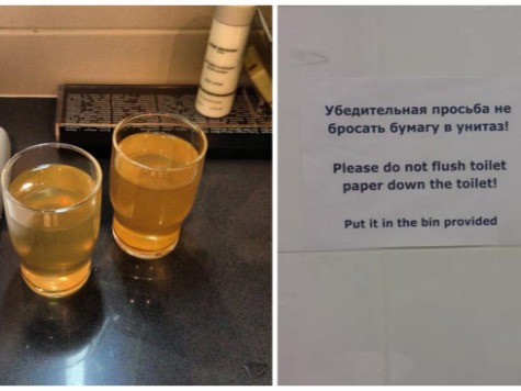 Nightmare in Sochi: Journalists Told Water 'Very Dangerous,' Don't Flush Toilet Paper