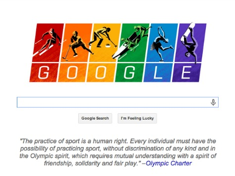 Google Celebrates 'Human Rights'  with Rainbow Doodle for Sochi Games