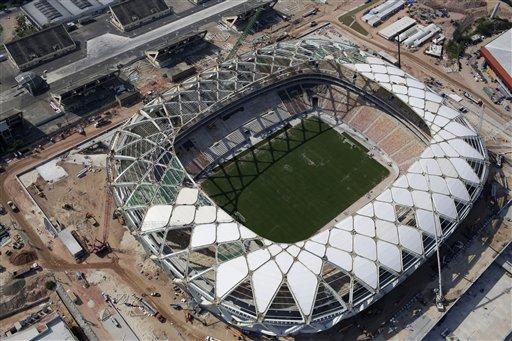 Workers Threaten Strike at World Cup Stadium in Brazil