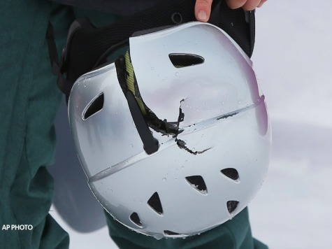 Czech Snowboarder's Helmet Breaks on Controversial Sochi Slope