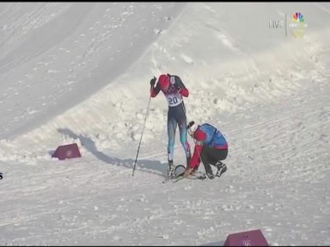 Sochi 2014: Canada Coach Fixes Russian's Broken Ski at Winter Olympics