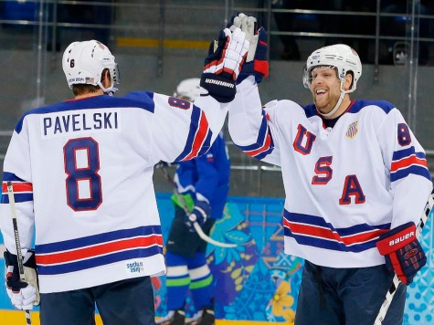 Sochi 2014: Phil Kessel's Hat Trick Lifts US Men's Hockey Over Slovenia