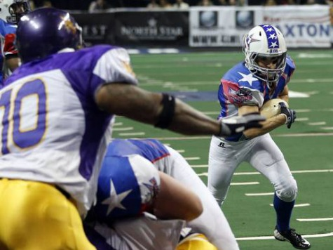 First Female Running Back in Men's Pro League Walloped Multiple Times