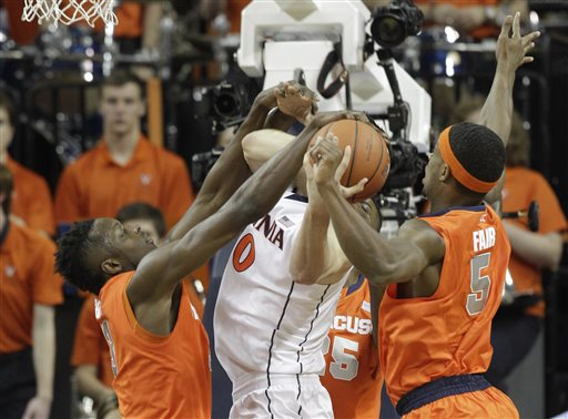 No. 12 Virginia Squashes Syracuse 75-56 for 1st in ACC